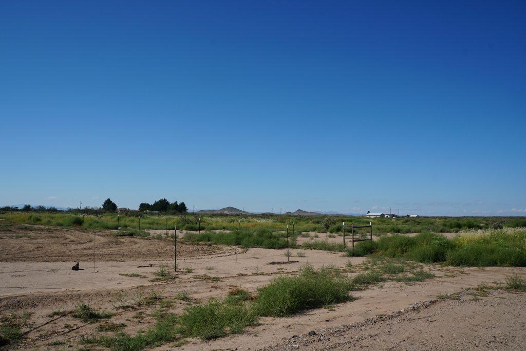 End of El Bordo Rd facing SW-W